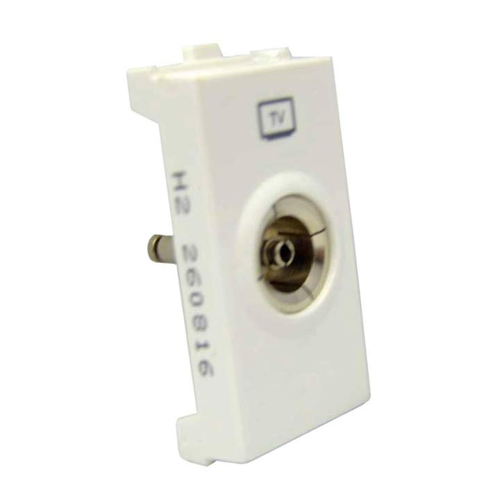 TV Socket Coaxial 1Module