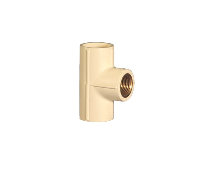 CPVC Reducer Tee Brass Thread