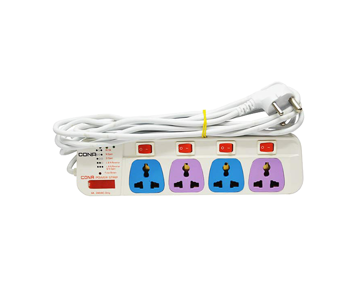 Power Strip 4mtr Colour 4Switch