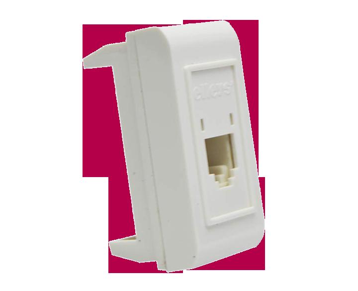 Telephone Jack RJ11 1 Module