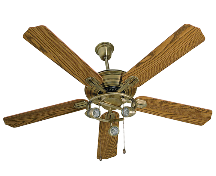Ceiling Fan Cedar Under Light