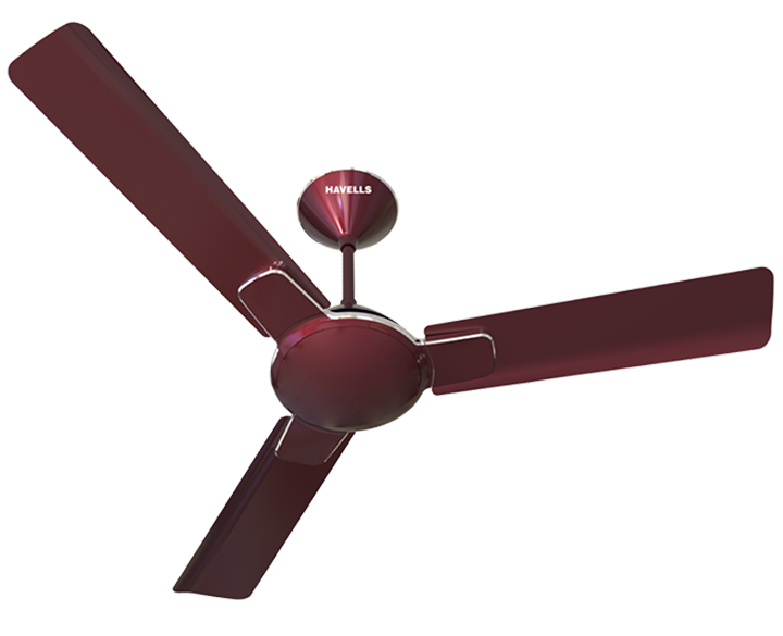 Ceiling Fan Enticer Maroon Chrome
