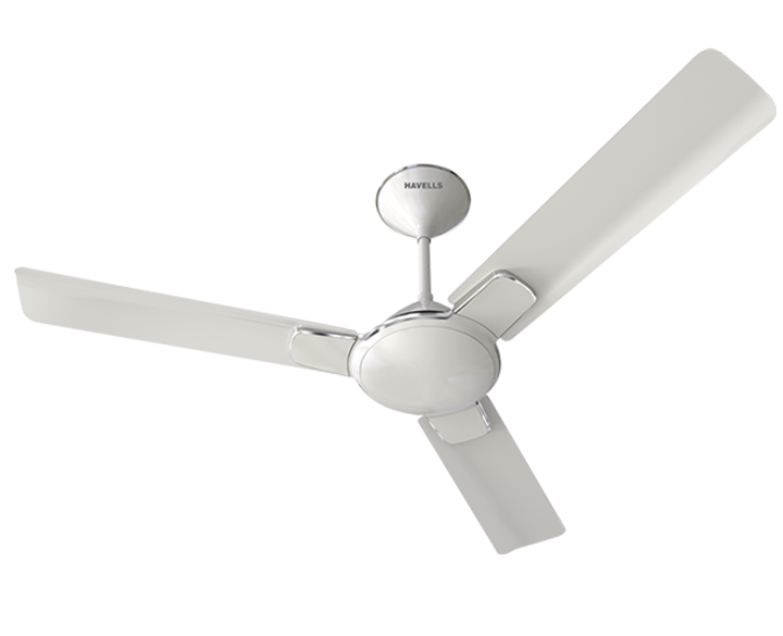 Ceiling Fan Enticer Pearl White Chrome