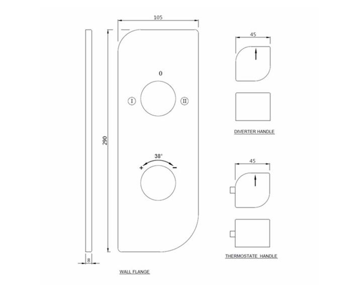 Aquamax Exposed Part Kit with 2-way Diverter ALI-CHR-85681K
