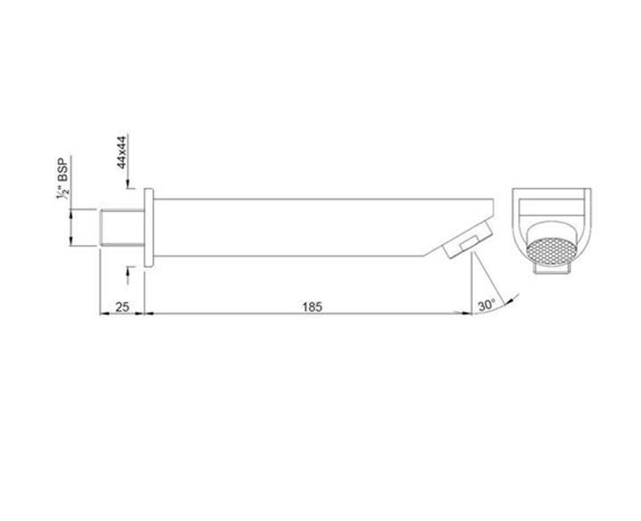 D-Shape Bath Tub Spout SPJ-CHR-37429