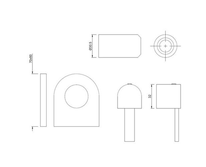 Exposed Part Kit of Concealed Stop Cock DRC-CHR-37083K