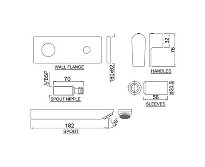 Exposed Part Kit of Single Concealed Stop Cock ARI-CHR-39441K