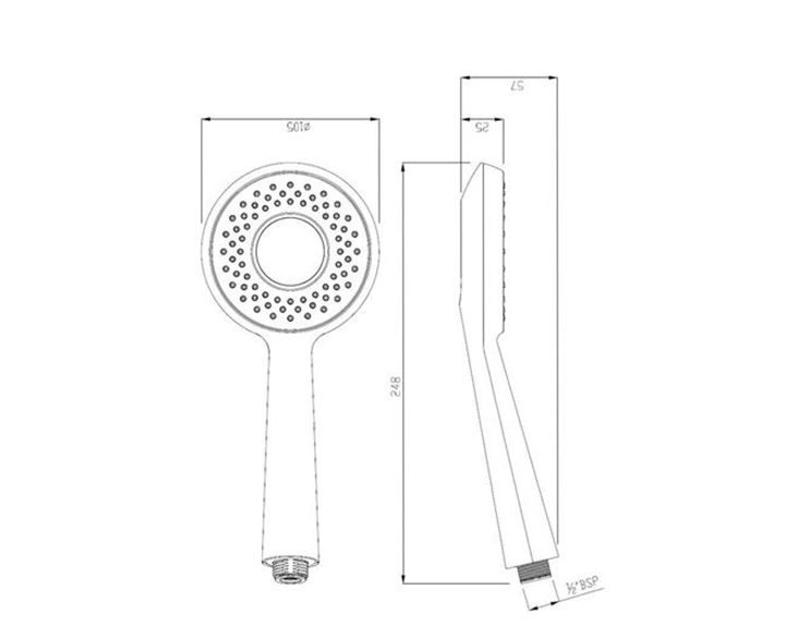Hand Shower 105mm Round Shape HSH-BLM-1715