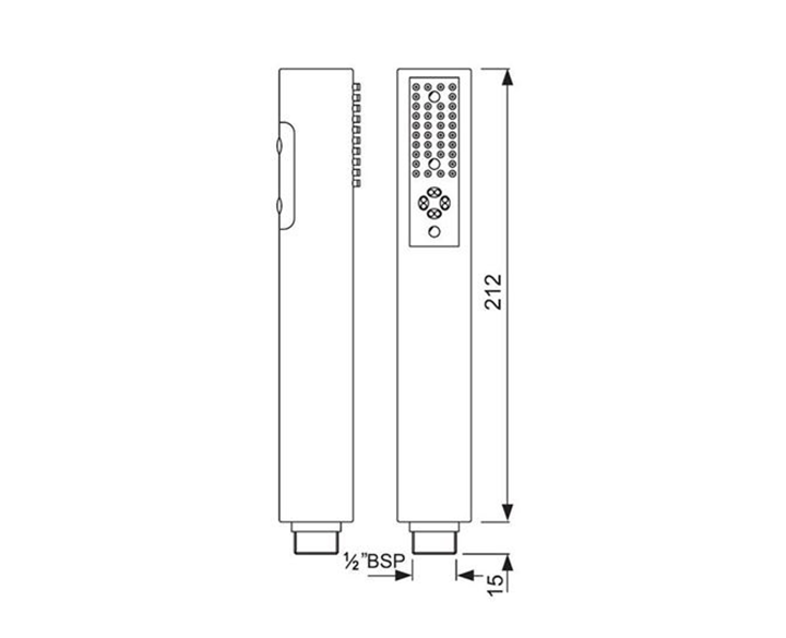 Hand Shower Multi Flow HSH-CHR-5541
