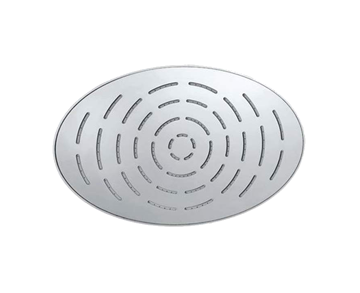 Maze Overhead Shower 340X220mm Oval Shape Single Flow OHS-CHR-1635