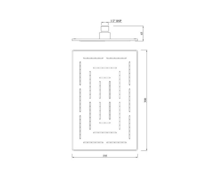 Maze Overhead Shower OHS-CHR-1637