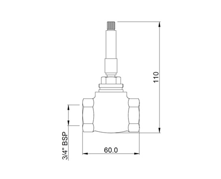 Regular Body of Concealed Stop cock ALD-CHR-089C