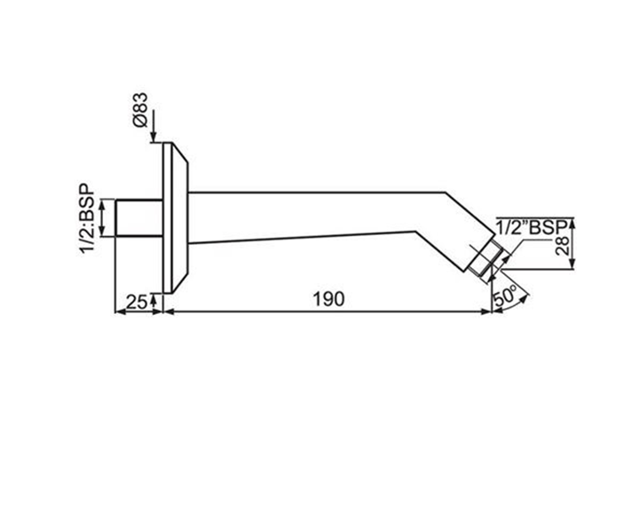 Shower Arm Casted  SHA-CHR-483