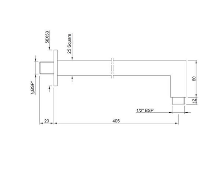Shower Arm SHA-CHR-455L400