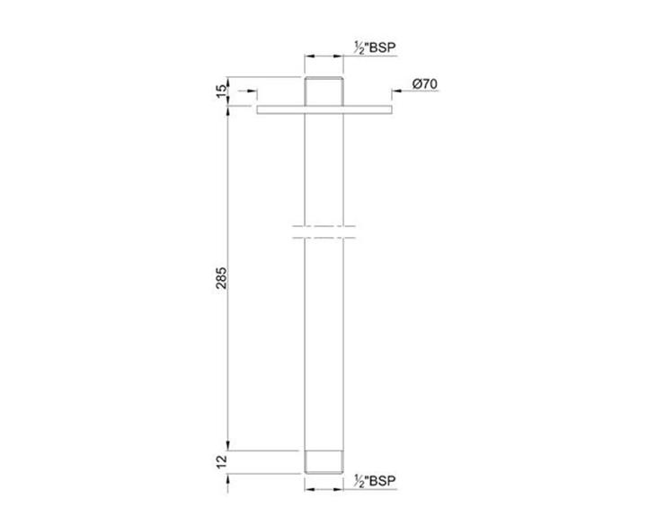 Shower Arm SHA-CHR-475L280
