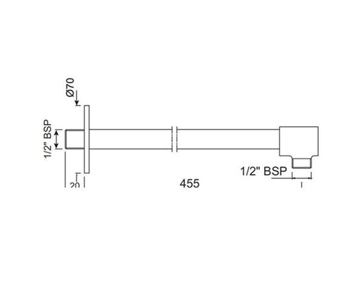 Shower Arm SHA-CHR-49483