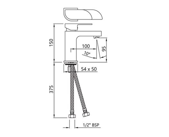 Single Lever Basin Mixer ALI-CHR-85011B
