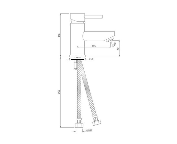 Single Lever Basin Mixer FLR-CHR-5001B