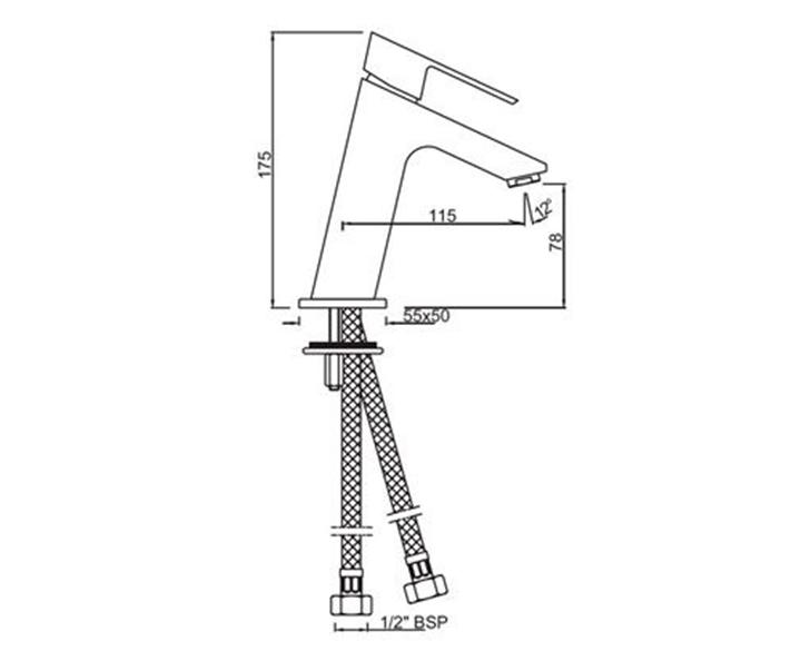 Single Lever Basin Mixer LYR-CHR-38001B