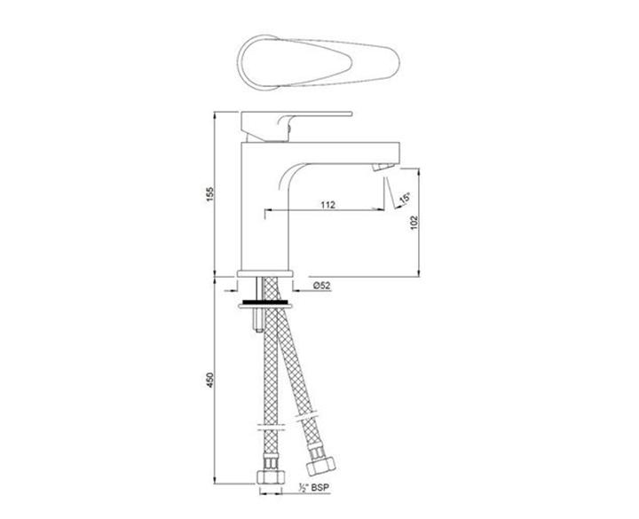 Single Lever Basin Mixer VGP-CHR-81011B