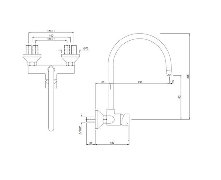 Single Lever Sink Mixer VGP-CHR-81165