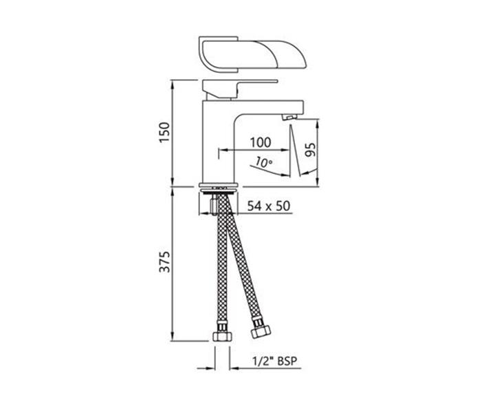 Single Lever Tall Body ALI-CHR-85005B
