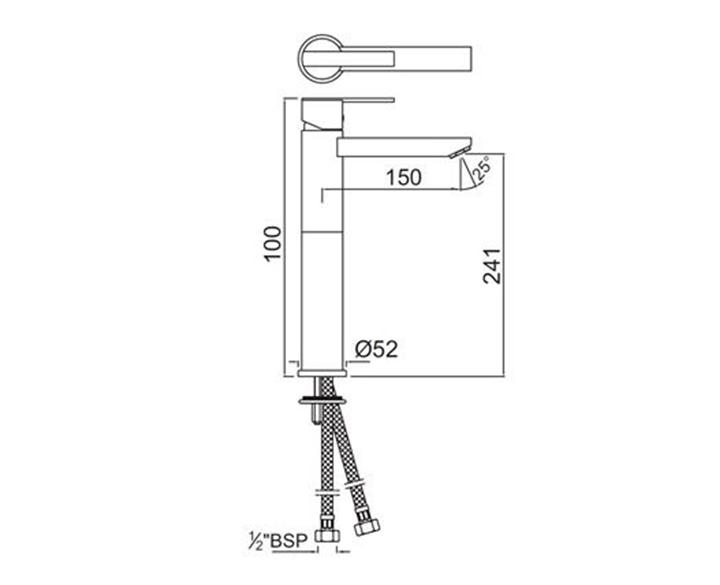 Single Lever Tall Boy FON-CHR-40005B