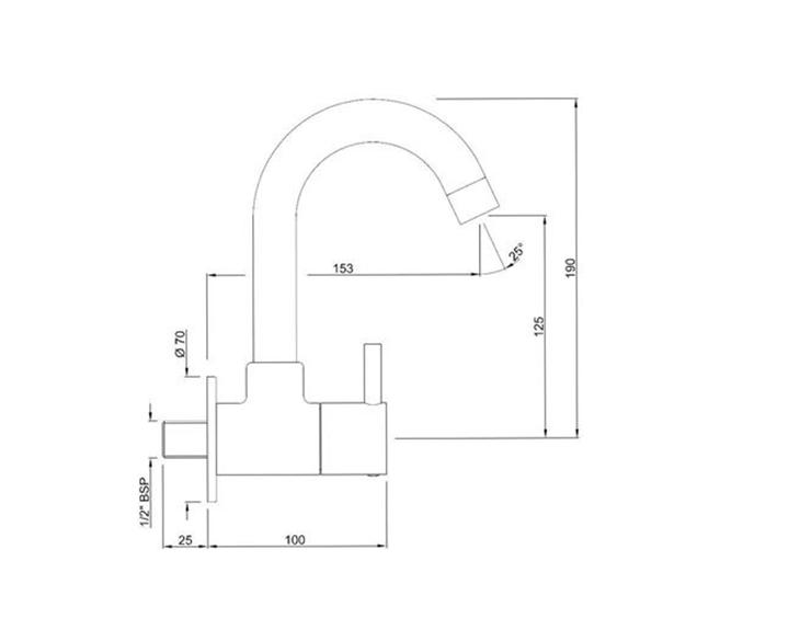 Sink Cock FLR-CHR-5347N