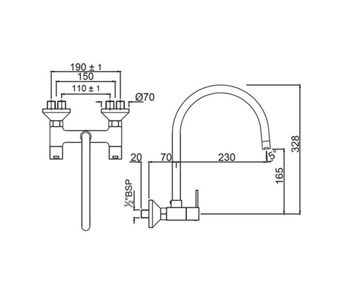 Sink Mixer DRC-CHR-37309