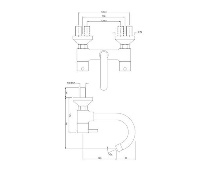 Sink Mixer FLR-CHR-5309N