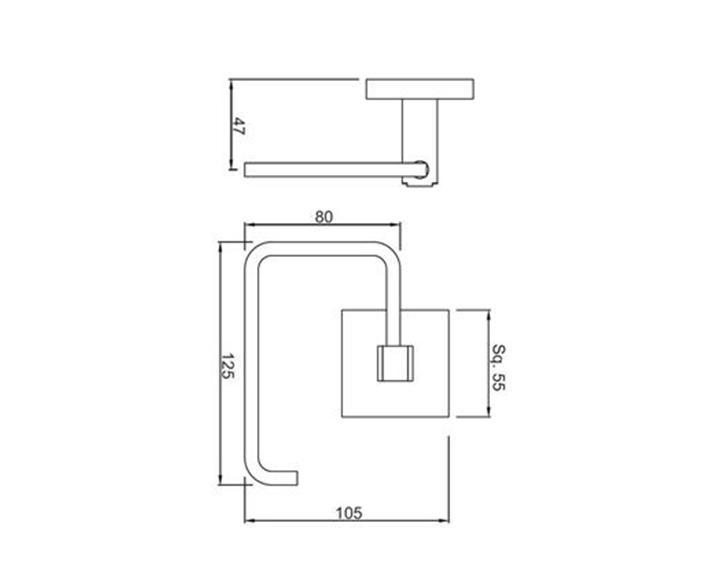 Toilet Roll Holder AKP-CHR-35751P