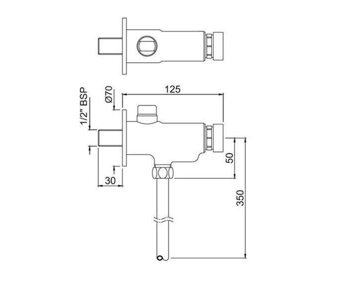 Urinal Valve Auto Closing System PRS-CHR-077
