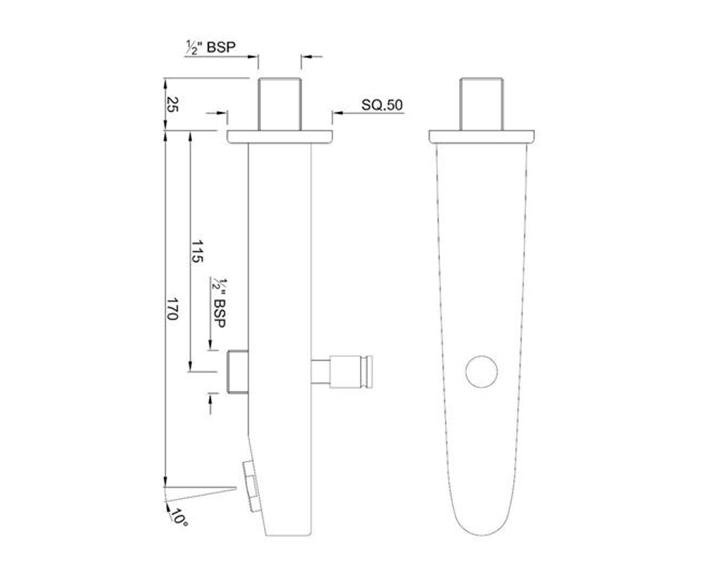 Vignette Prime Bath Tub Spout SPJ-CHR-81463