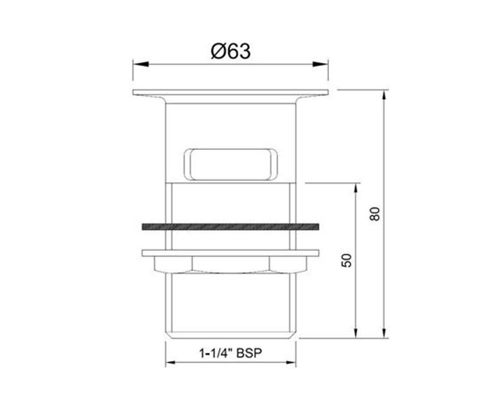 Waste coupling ALD-CHR-709