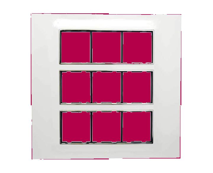 Plate 18 Module Plate Silverline