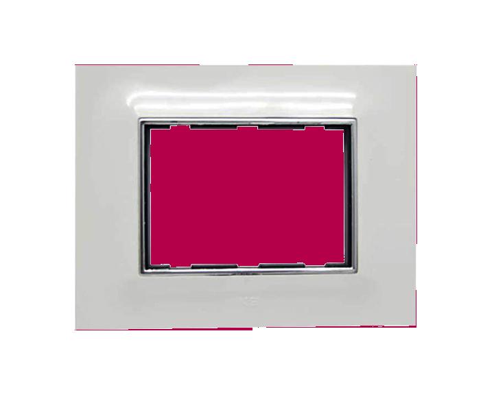 Plate 3 Module Plate Silverline