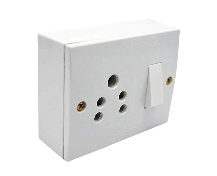 Switch socket Combined 5A With Box