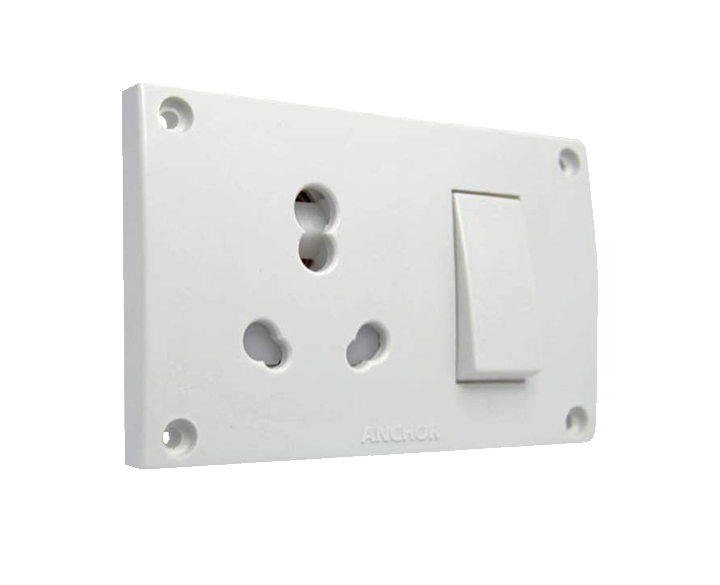 Switch socket Combined 15A