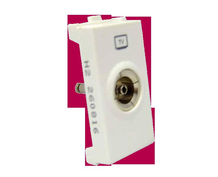 TV Socket Coaxial 1 Module